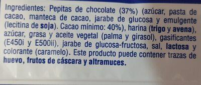Cookies - Ingredients - es