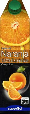 Zumo de naranja exprimida con pulpa