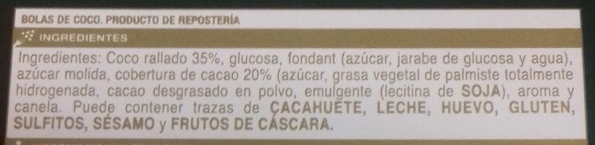 Bolitas de coco - Ingredients