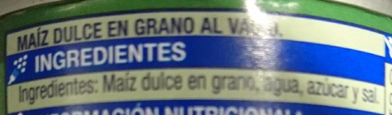 Maíz Dulce en grano - Ingredientes - es