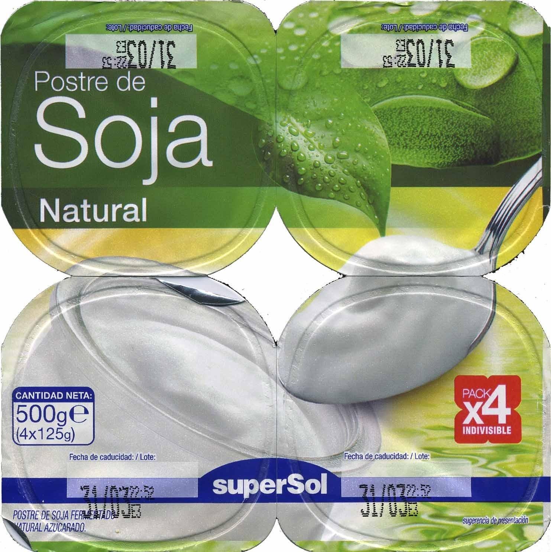 Postre de soja natural - Producto - es