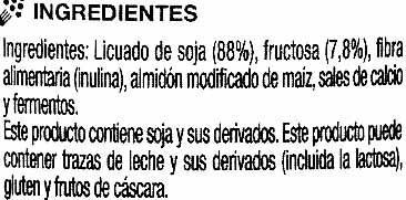 Postre de soja natural - Ingredientes - es