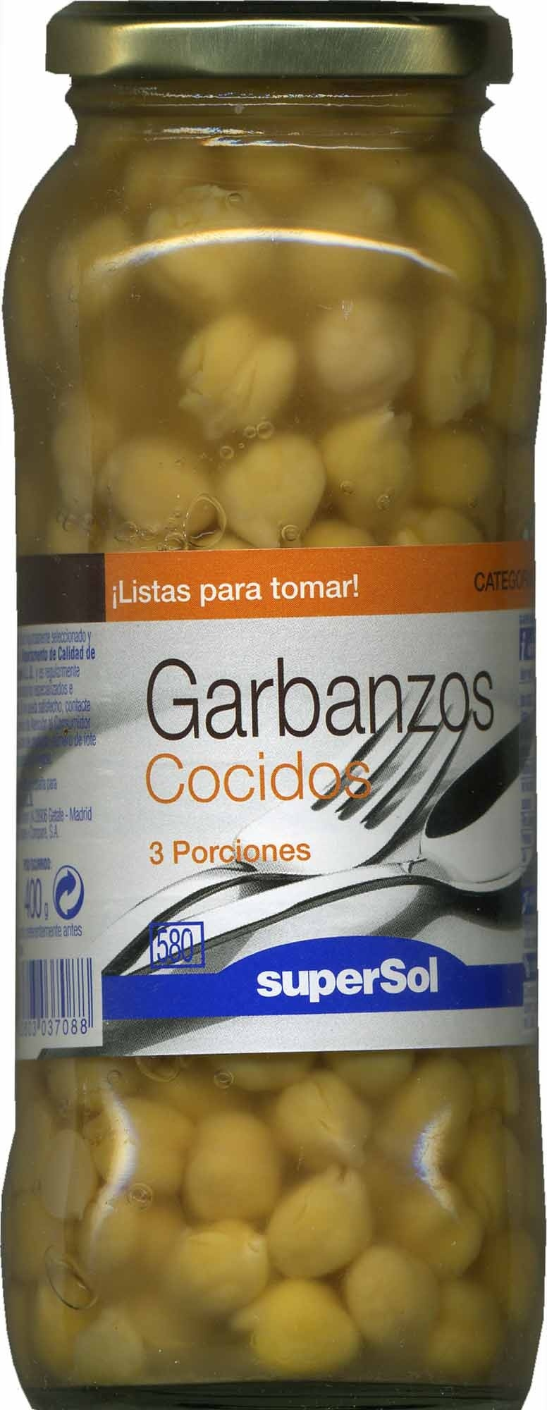Garbanzos cocidos en conserva - Producto - es