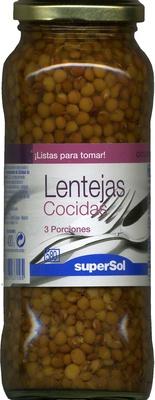 Lentejas cocidas - Producto