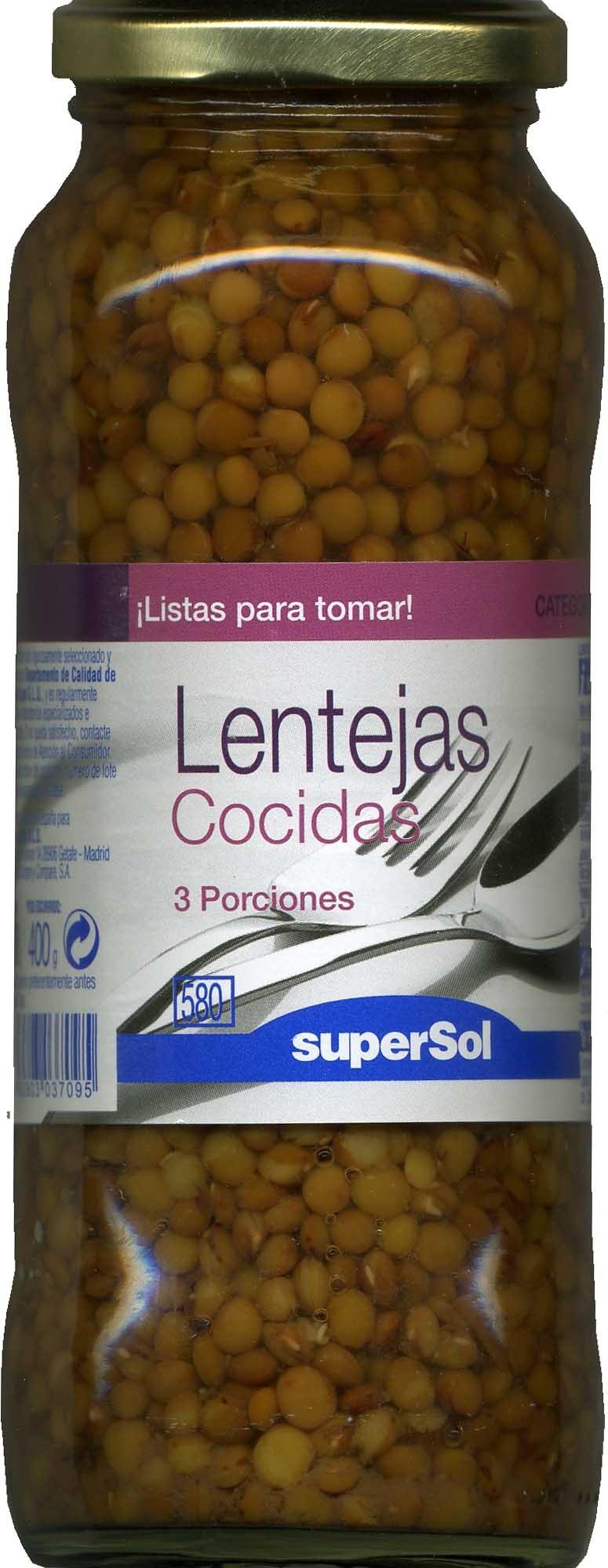 Lentejas cocidas - Producto - es