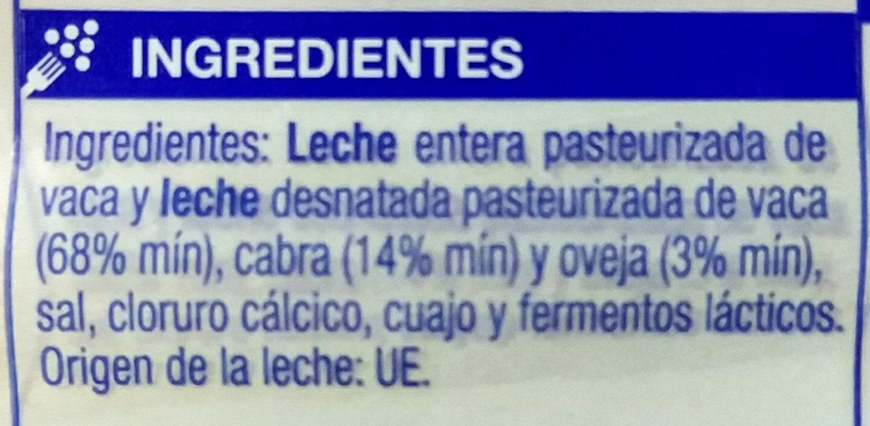Queso en lonchas liguero - Ingrediënten