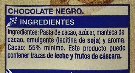 Chocolate negro - Ingrediënten