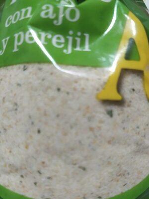 Pan rallado con ajo y perejil