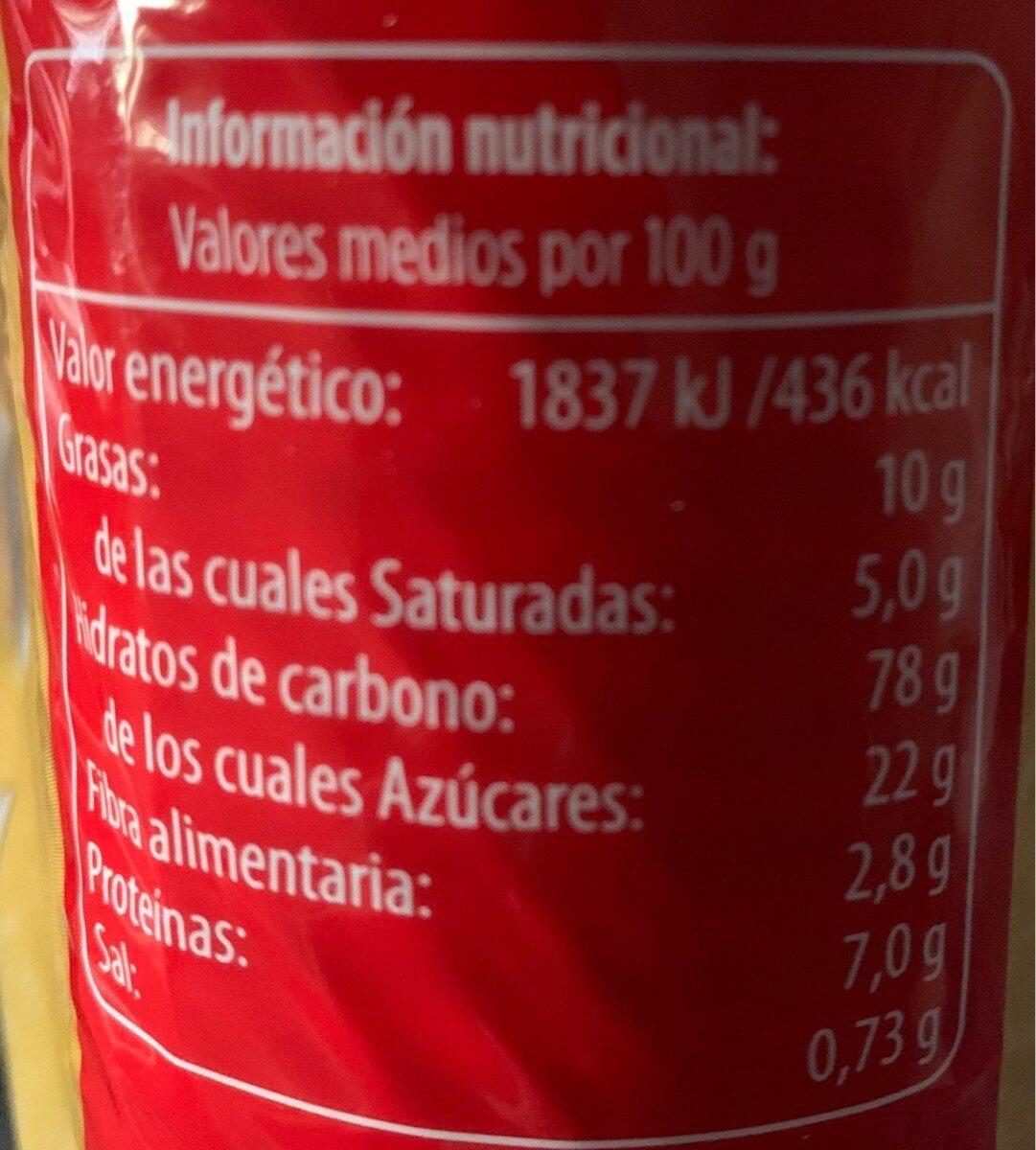 Galletas Maria - Informations nutritionnelles