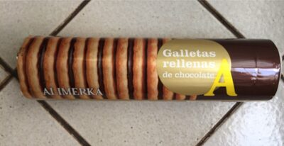 Galletas rellenas de chocolate - Producte