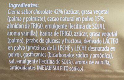 Galletas rellenas de chocolate - Ingredients