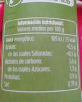 Tomate triturado extra - Informations nutritionnelles - es