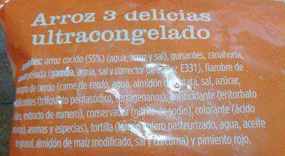 Arroz 3 delicias - Ingrédients - es
