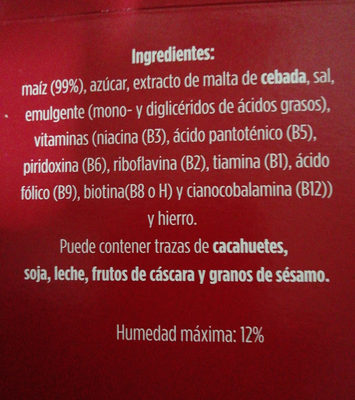 copos de maiz - Ingredients - es