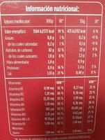copos de maiz - Información nutricional - es