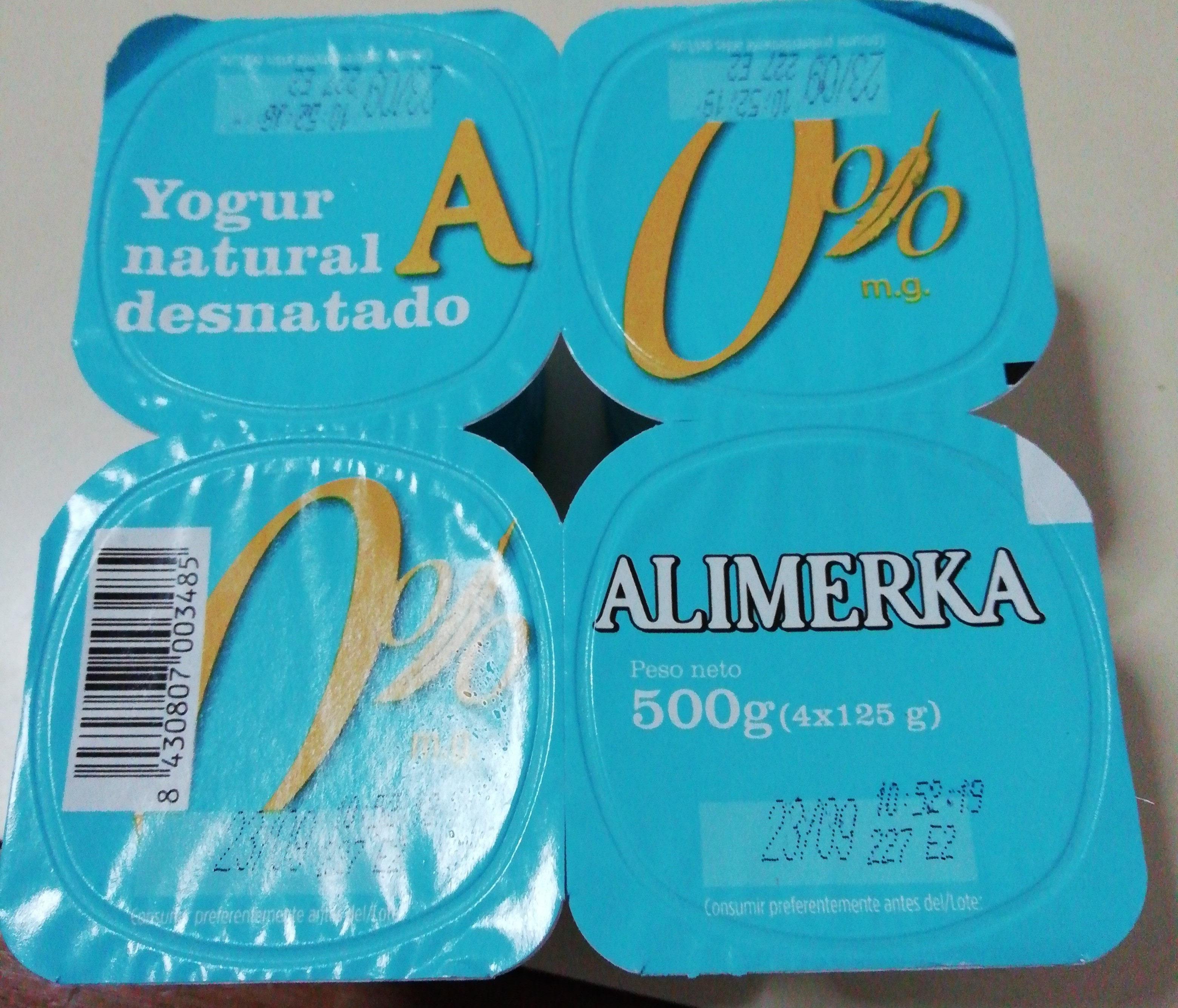 Yogur natural desnatado 0% - Producto