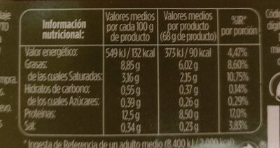 Huevos Frescos 6 unidades - Nutrition facts