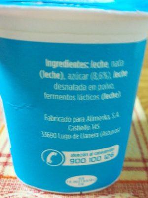 Yogur griego azucarado - Ingredients - fr