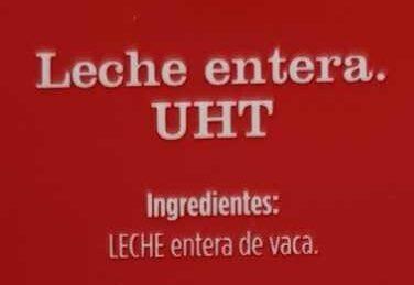 Leche entera - Ingredientes - es