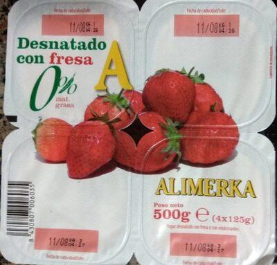 Desnatado con fresa 0% - Producto