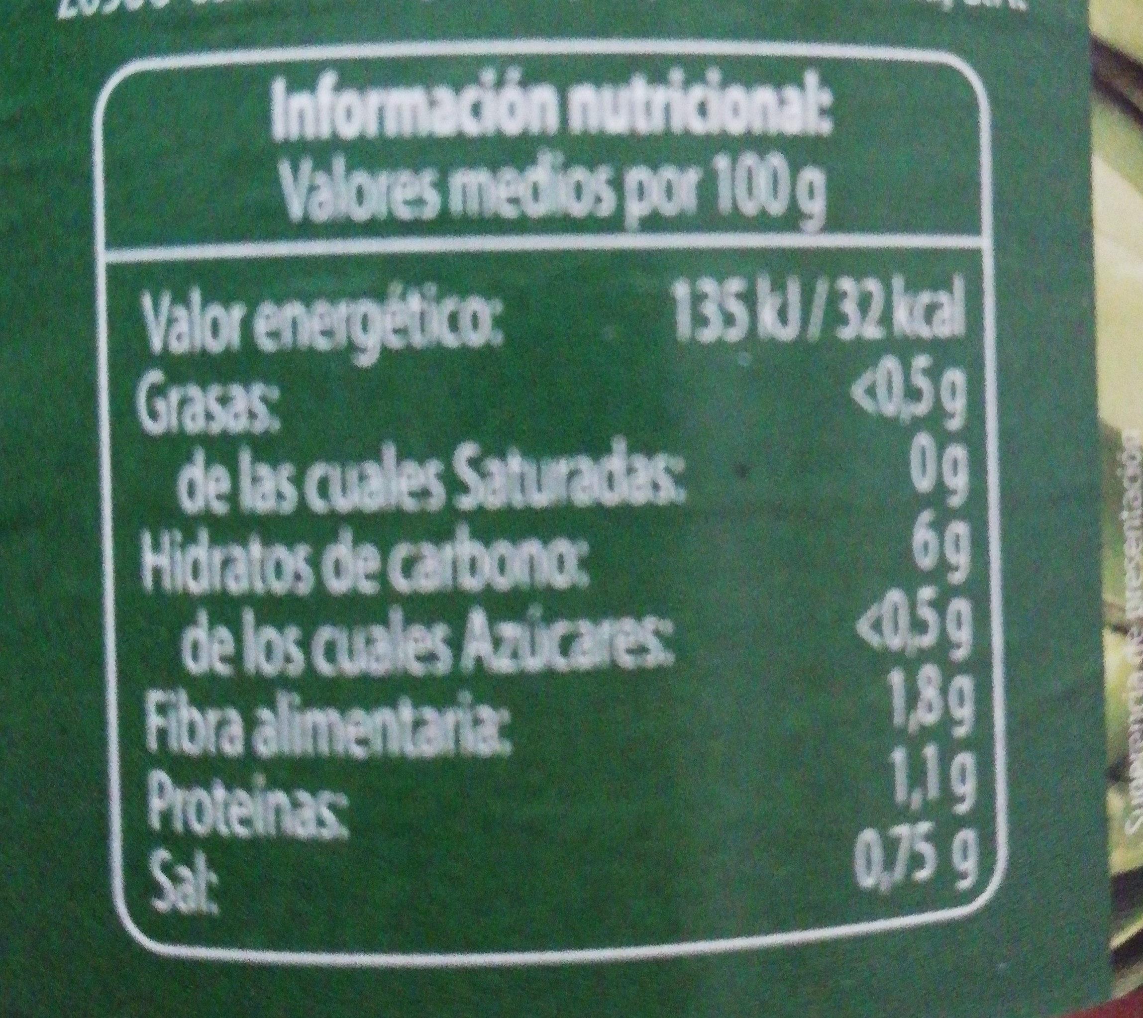 Macedonia de verduras - Información nutricional - es