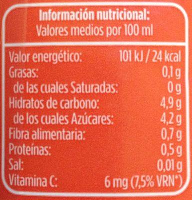 Nectar de melocotón ligero - Informació nutricional