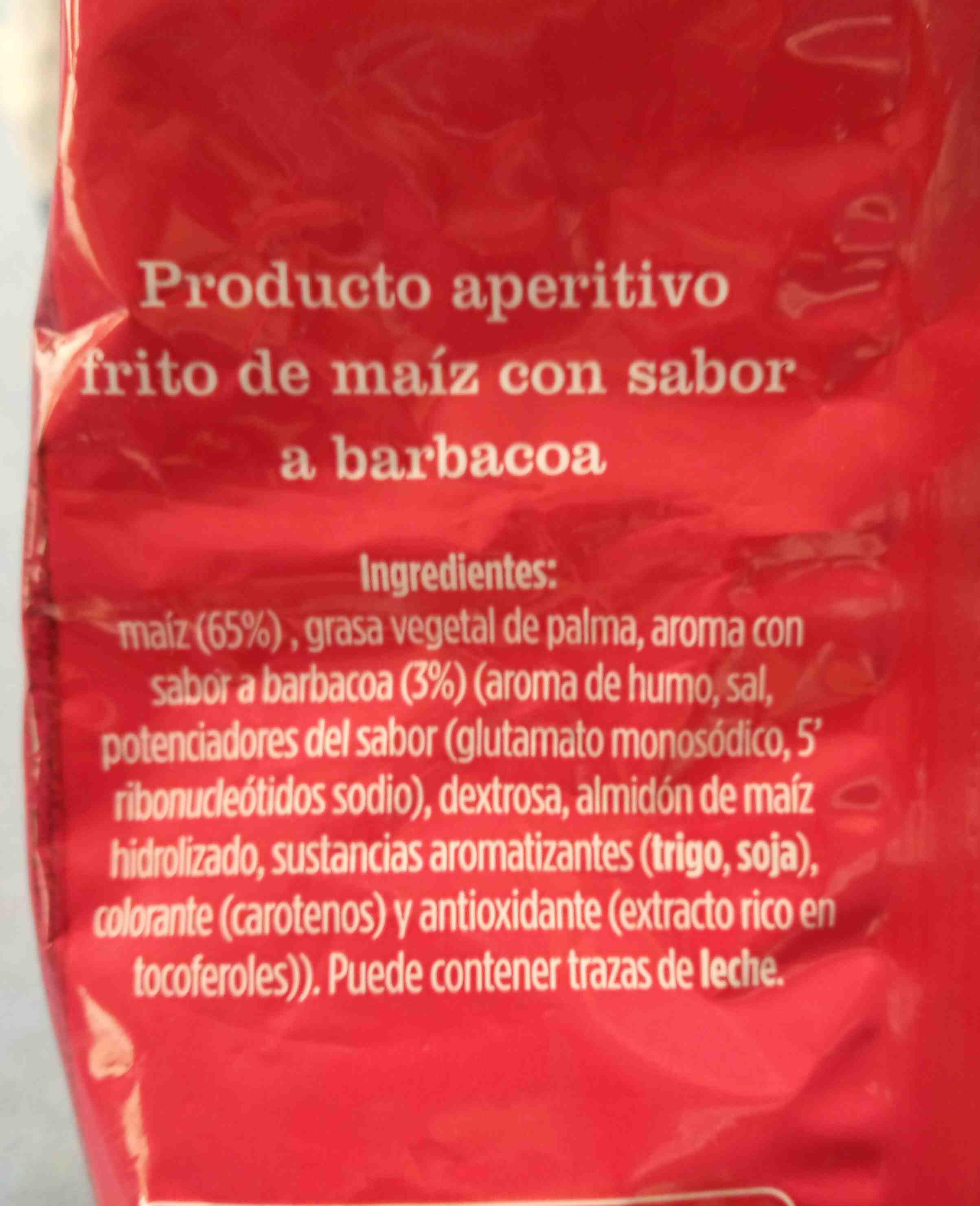 Tiras de maíz sabor barbacoa - Ingredients