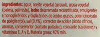 Margarina ligera - Ingredients