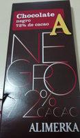 Chocolate negro 72% alimerka - Producto - es