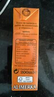 Zumo de naranja - Información nutricional