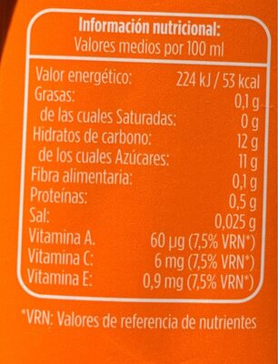 Zumo de fruta y leche tropical - Nutrition facts