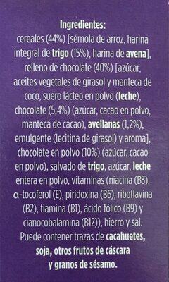 Cereales chocolateados rellenos de chocolate - Ingredientes