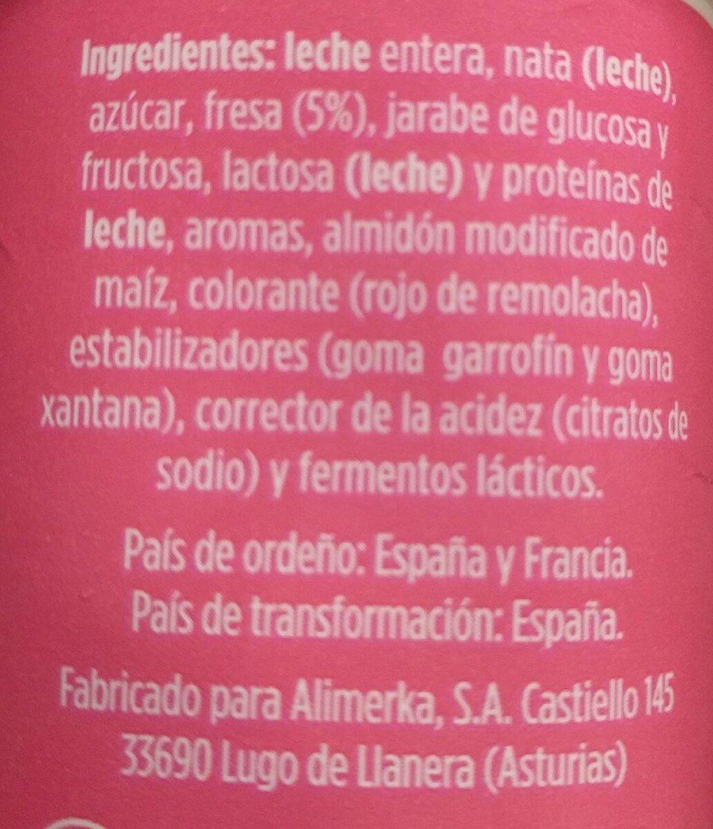 Yogur griego con fresa - Ingredients - es