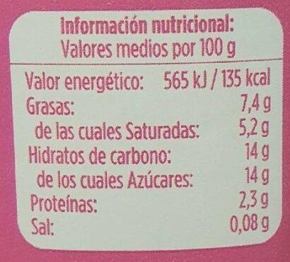 Yogur griego con fresa - Informació nutricional - es