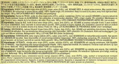 Tortas de aceite con anís - Ingrédients