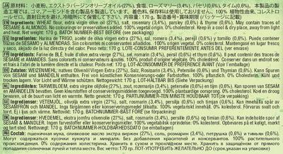 Tortas de aceite con finas hierbas - Ingrédients - es