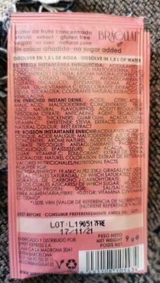 Bebida de fruta concentrada - Informació nutricional - es