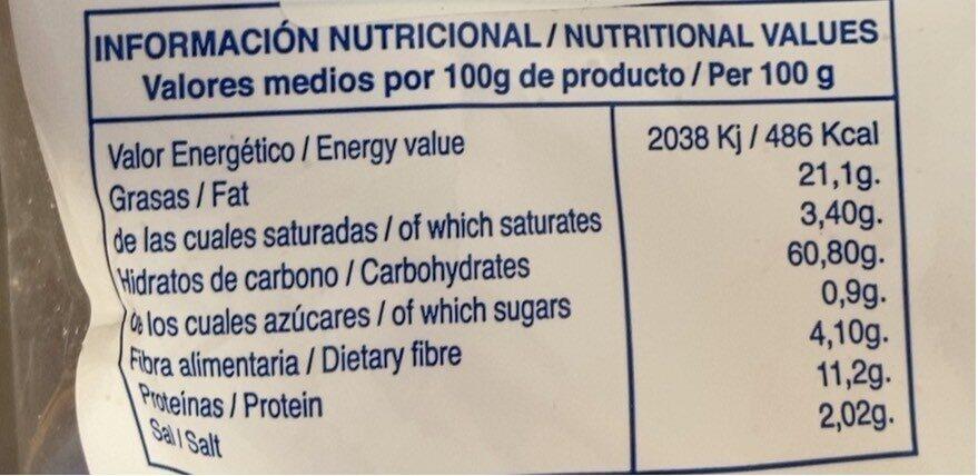 Regañás - Información nutricional - es