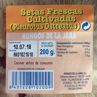 Setas Frescas Cultivadas (Pleorotus Ostreatus) - Ingredientes - es