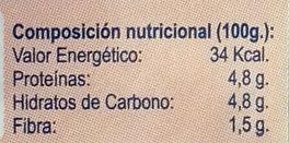 Setas Frescas Cultivadas (Pleorotus Ostreatus) - Información nutricional - es
