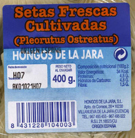 """Setas de ostra """"Hongos de la Jara"""" (400 g) - Ingredientes - es"""