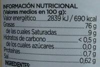 Mayonesa Musa - Informació nutricional - es