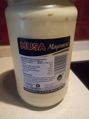 Salsa Mayonesa 450 ml.+ 90ml - Ingrediënten - fr