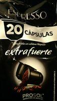 Expreso 20 capsulas extrafuerte - Ingredients - es