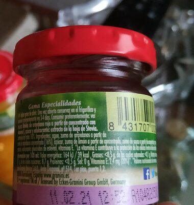 Granini arandano rojo - Nutrition facts - es