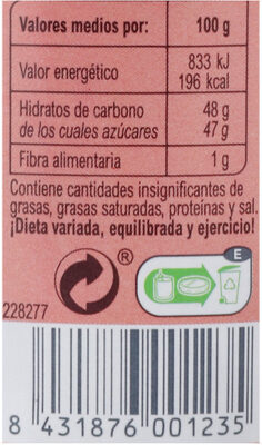 Mermelada frutos del bosque - Nutrition facts