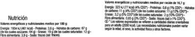 Tableta de chocolate relleno sabor menta - Nutrition facts - es