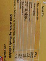Cordon blue - Información nutricional - es