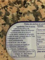 Anchoa aceite oliva - Ingredientes - es
