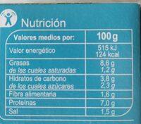 Mix para ensalada a la californiana - Información nutricional - es